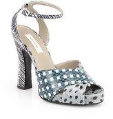 Marc Jacobs Mixed Print Snakeskin Sandals