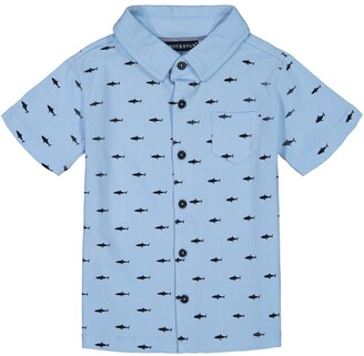 Andy & Evan Shark Print Button-Up Shirt