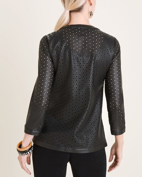 Thumbnail for your product : Travelers Collection Front-Zip Cut-Out Jacket