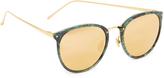 Linda Farrow Luxe Round Mirrored Sunglasses
