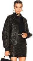 Balmain Studded Leather Bomber Jacket