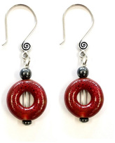 Love's Hangover Creations Red Ceramic Earrings