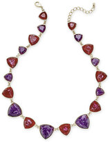 Charter Club Gold-Tone Purple and Red Colored Stone Statement Necklace, Only at Macy's