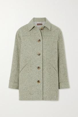 ALEXACHUNG Melange Wool-blend Jacket - Sage green