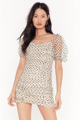 Nasty Gal Womens Ain't Got Dottin' On You Polka Dot Mini Dress - White - M/L, White