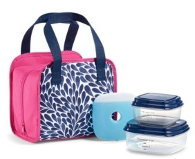 Fit & Fresh Pembroke Lunch Kit with Bpa-Free Containers