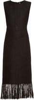 ADAM by Adam Lippes Fringed linen and cotton-blend dress