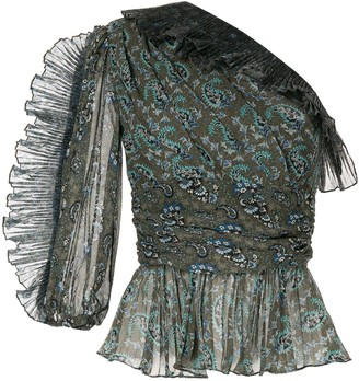 Altuzarra Aditi one-shoulder blouse