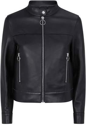 Claudie Pierlot Leather Zip Jacket