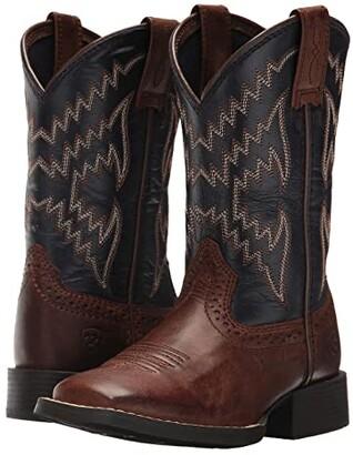 Ariat Tycoon (Toddler/Little Kid/Big Kid) (Brazen Brown/Arizona Sky) Cowboy Boots