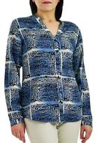 Haggar Women's Sea Breeze Button Front Blouse