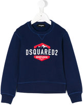 DSQUARED2 logo print sweatshirt - kids - Cotton - 4 yrs