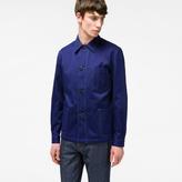 Paul Smith Men's Indigo Cotton And Linen-Blend Chore Jacket