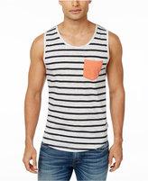 Univibe Men's Rian Stripe Cotton Pocket Tank