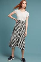 Eva Franco Lace-Up Gingham Skirt
