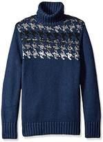 Nautica Men's Engineered Houndstooth Turtleneck Sweater