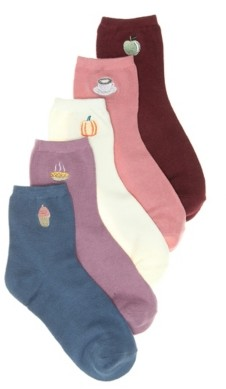 Mix No. 6 Fall Treat Women's Ankle Socks - 5 Pack