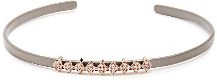 Diane Kordas Diamond, rose-gold & titanium Cosmos Kite cuff