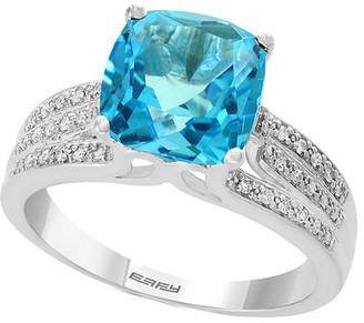 Effy Fine Jewelry 14K 4.58 Ct. Tw. Diamond & Blue Topaz Ring