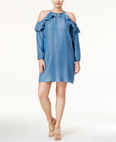 MICHAEL Michael Kors Size Chambray Cold-Shoulder Dress