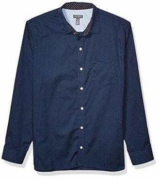 Van Heusen Men's Never Tuck Long Sleeve Button Shirt