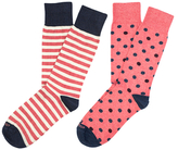 Etiquette Clothiers Abbey Stripes and Mix Polka Socks (2 PK)