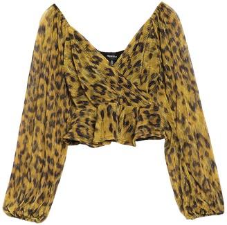 4SI3NNA the Label Annalise Leopard Print Top