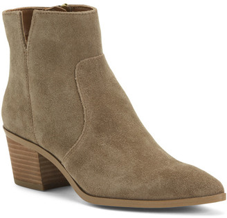 Pointy Toe Suede Chelsea Booties