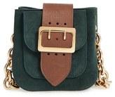 Burberry Suede Convertible Crossbody Bag - Green