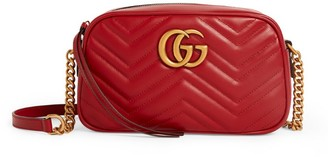 Gucci Small Leather Marmont Matelasse Cross-Body Bag
