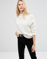 Asos Sweater With Cable Stitch And High Neck