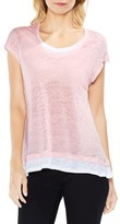 Vince Camuto Women's Colorblocked Linen Top