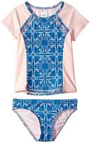 Roxy Kids Sunny Dreams Rashguard Short Sleeve Lycra Set (Big Kids)
