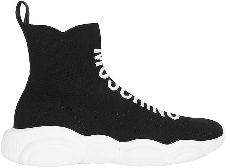 Moschino Logo Sock Sneakers - ShopStyle