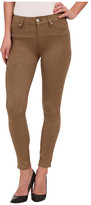 7 For All Mankind High Waist Ankle Knee Seam Skinny in Mocha Snake