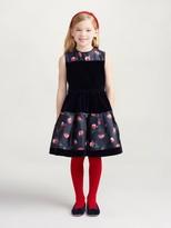 Oscar de la Renta Painted Poppies Mikado Party Dress