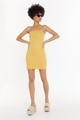 Nasty Gal Womens Yellow Bodycon Bandeau Mini Dress