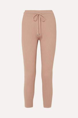 Max Mara Leisure Ribbed Wool Track Pants - Beige