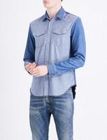 Maison Margiela Contrast-panelled regular-fit denim shirt