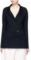 Maiyet Cashmere blend double breasted knit blazer