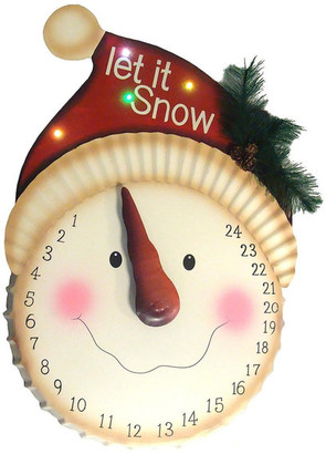"""Sterling 21"""" LED Lighted """"Let it Snow"""" Snowman Face Christmas Countdown Advent"""