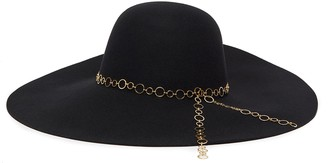 Eugenia Kim 'Bunny' chain embellished wide brim fedora hat