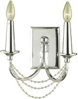 AF Lighting Shelby 2-Light Chrome Sconce
