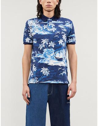 Polo Ralph Lauren Graphic-print cotton-piqué polo top