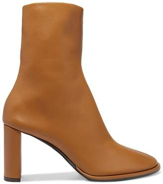 The Row teatime leather ankle zip boot