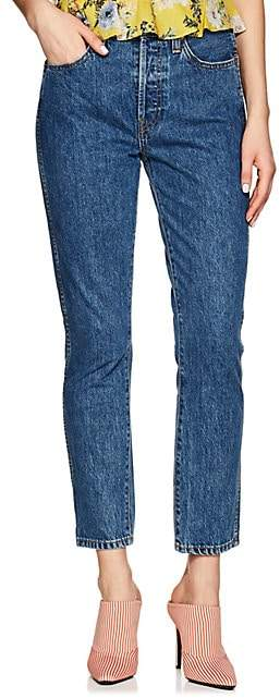 RE/DONE Women's Double Needle Crop Jeans - Blue