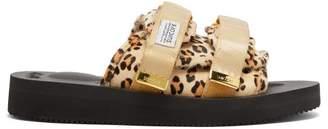 Suicoke Moto-vhl Leopard-print Slides - Womens - Leopard