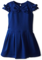 Us Angels Cap Sleeve Bow Front w/ Drop Waist (Toddler)