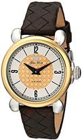 "Glam Rock Women's GR28052 ""Vintage Glam"" Stainless Steel Watch with Gold-Plated Bezel"