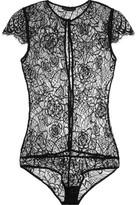 Kiki de Montparnasse Coquette Lace Bodysuit - Black